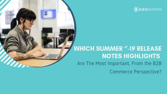 Which Summer 19 Release Notes Highlights Are The Most Important from the B2B Commerce Perspective-Docmation