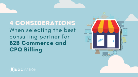 Best Consulting Partner for B2B Commerce and CPQ Billing